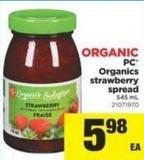 PC Organics Strawberry Spread - 545 mL