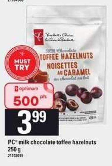 PC Milk Chocolate Toffee Hazelnuts