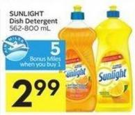 Sunlight Dish Detergent 562-800 mL - 5 Air Miles Bonus Miles