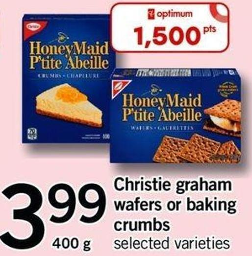 Christie Graham Wafers Or Baking Crumbs - 400 G