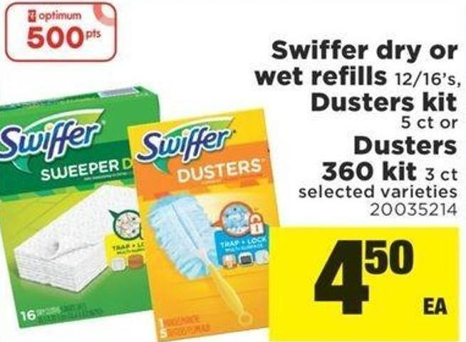 Swiffer Dry Or Wet Refills - 12/16's - Dusters Kit - 5 Ct Or Dusters - 360 Kit 3 Ct