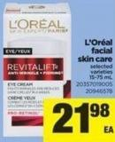 L'oréal Facial Skin Care - 15-75 mL