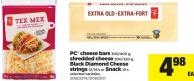 PC Cheese Bars 300/400 G - Shredded Cheese 300/320 G - Black Diamond Cheese Strings - 12/16's Or Snack - 10's