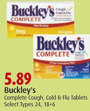 Buckley's Complete Cough - Cold & Flu Tablets