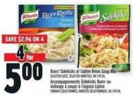 Knorr Sidekicks Or Lipton Onion Soup Mix