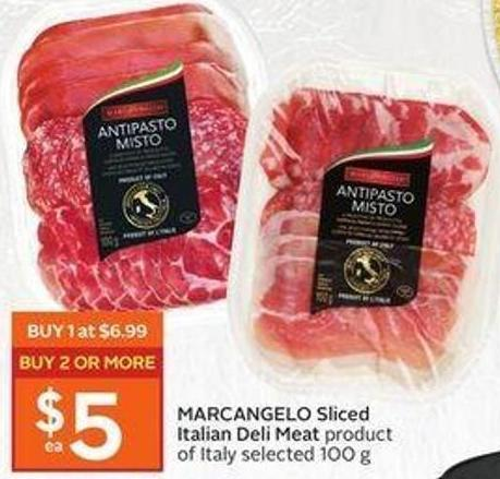 Marcangelo Sliced Italian Deli Meat Product of Italy Selected 100 g