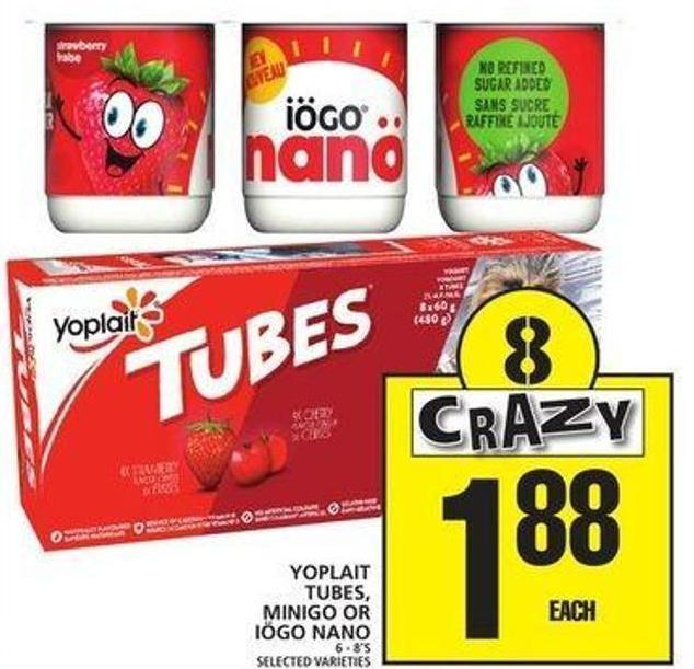 Yoplait Tubes - Minigo Or Iögo Nano