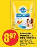 Pedigree Dentastix Dog Snacks - 553 G-1.9 Kg/ 5's