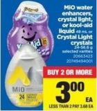 Mio Water Enhancers - Crystal Light - Or Kool-aid Liquid 48 Ml Or Crystal Light Crystals 24-56.6 G