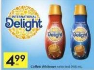 International Delight Coffee Whitener - 40 Bonus Air Miles