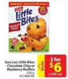 Sara Lee Little Bites Chocolate Chip or Blueberry Muffins