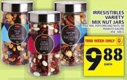 Irresistibles Variety Mix Nut Jars