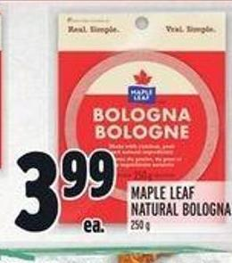 Maple Leaf Natural Bologna