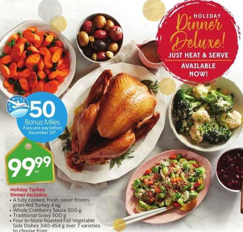 Holiday 50 Turkey Dinner - 50 Air Miles Bonus Miles