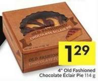 4in Old Fashioned Chocolate ÉClair Pie 114 g