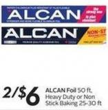 Alcan Foil 50 Ft - Heavy Duty or Nonstick Baking 25-30 Ft