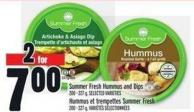 Summer Fresh Hummus And Dips
