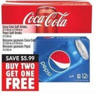 Coca-cola Soft Drinks 12 X 355 Ml - 6 X 710 Ml Or Pepsi Soft Drinks 12 X 355 Ml