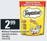 Whiskas Temptations Cat Treats - 130/180 g
