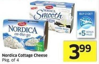 Gaylea Nordica Cottage Cheese Pkg of 4 - +5 Air Miles Bonus Miles