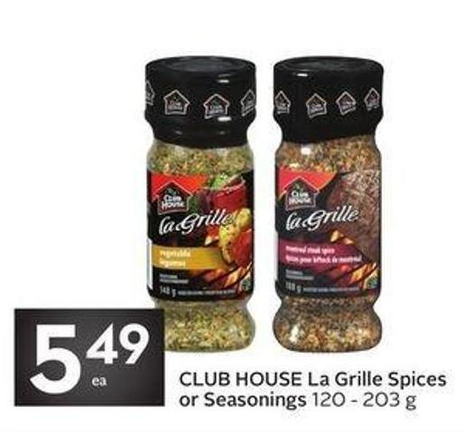 Club House La Grille Spices or Seasonings