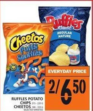 Ruffles Potato Chips Or Cheetos
