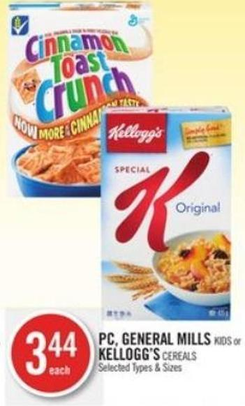 PC - General Mills Kids or Kellogg's Cereals