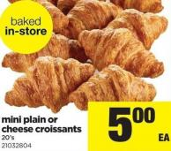 Mini Plain Or Cheese Croissants - 20's