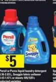 Persil Or Purex Liquid Laundry Detergent - 1.18-2.03 L - Snuggle Fabric Softener - 1.43-1.47 L Or Sheets - 105/120's