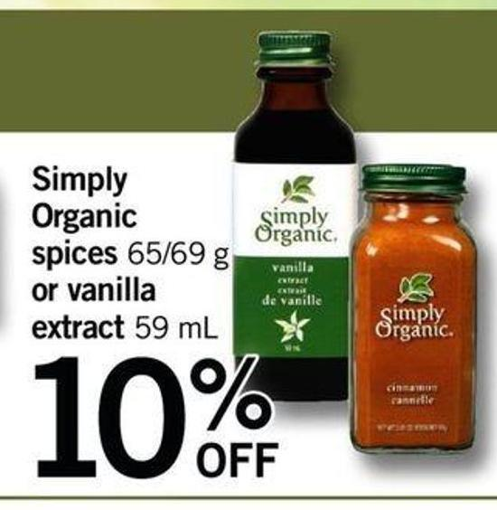 Simply Organic Spices - 65/69 G Or Vanilla Extract.t 59 Ml