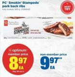 PC Smokin' Stampede Pork Back Ribs - 500 g
