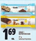 Grab 1 Nutrition Bar