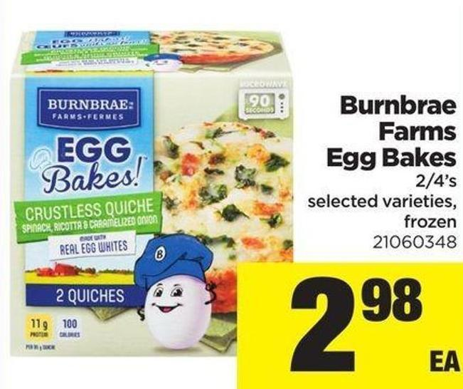 Burnbrae Farms Egg Bakes - 2/4's