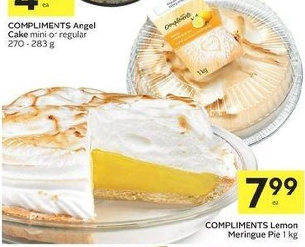 Compliments Lemon Meringue Pie 1 Kg