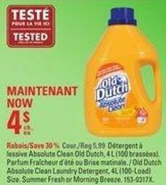 Old Dutch Absolute Clean Laundry Detergent - 4l (100-load) Size
