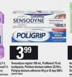 Sensodyne Regular - 100 Ml - Pronamel - 75 Ml Toothpaste - Polident Denture Tablets - 32/40's - Poligrip Denture Adhesive - 40 G Or Q-tips 500's