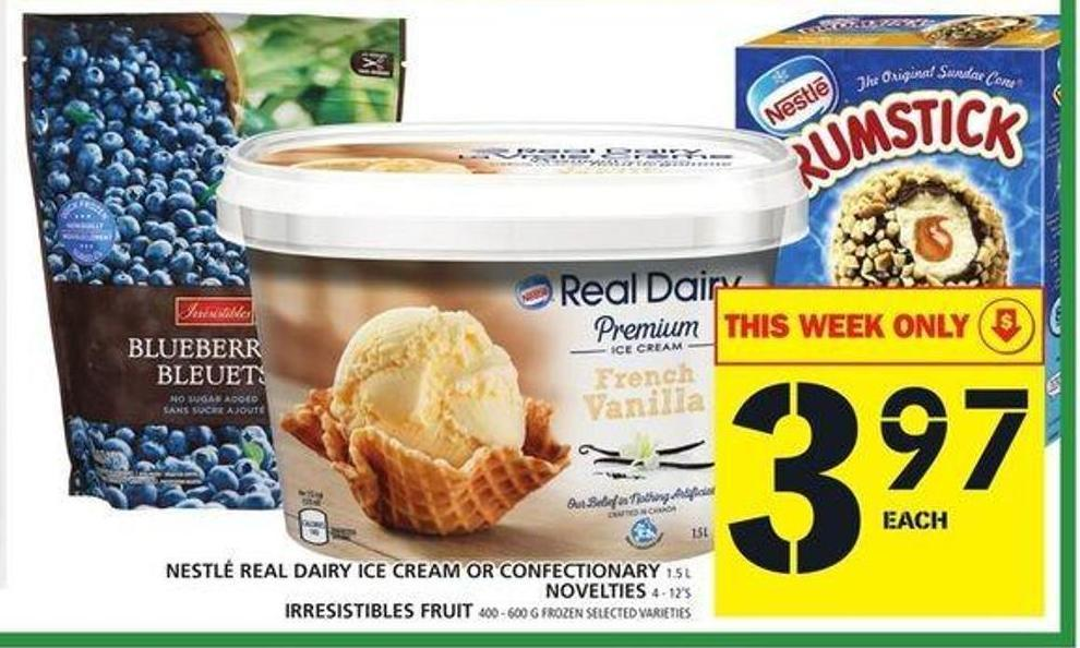 Nestlé Real Dairy Ice Cream Or Confectionary Or Novelties Or Irresistibles Fruit