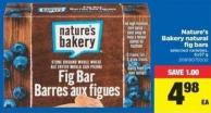 Nature's Bakery Natural Fig Bars - 6x57 g