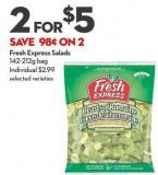 Fresh Express Salads 142-212g Bag
