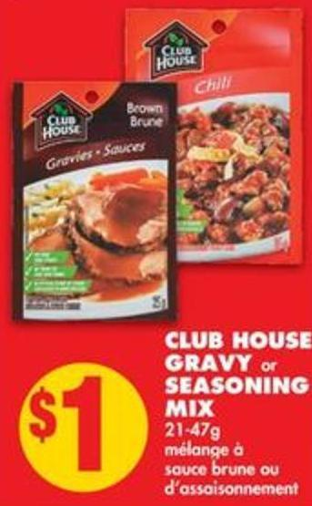 Club House Gravy or Seasoning Mix - 21-47g
