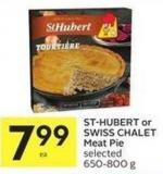 St-hubert or Swiss Chalet Meat Pie Selected 650-800 g