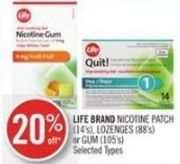 Life Brand Nicotine Patch (14's) - Lozenges (88's) or GUM (105's)