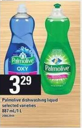 Palmolive Dishwashing Liquid - 887 Ml/1 L
