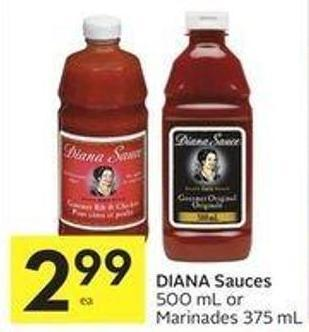 Diana Sauces 500 mL or Marinades 375 mL