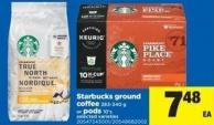 Starbucks Ground Coffee 283-340 G Or PODS 10's