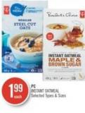 PC Instant Oatmeal