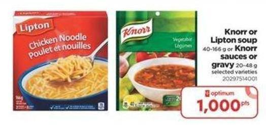 Knorr Or Lipton Soup - 40-166 G Or Knorr Sauces Or Gravy - 20-48 G