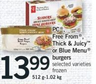 PC - Free From - Thick & Juicy Or Blue Menu Burgers 512g-1.02 Kg
