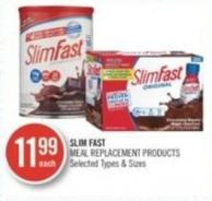 Slim Fast Meal Replacement Products