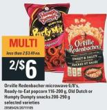 Orville Redenbacher Microwave 6/8's - Ready-to-eat Popcorn 116-200 G - Old Dutch Or Humpty Dumpty Snacks - 200-290 G